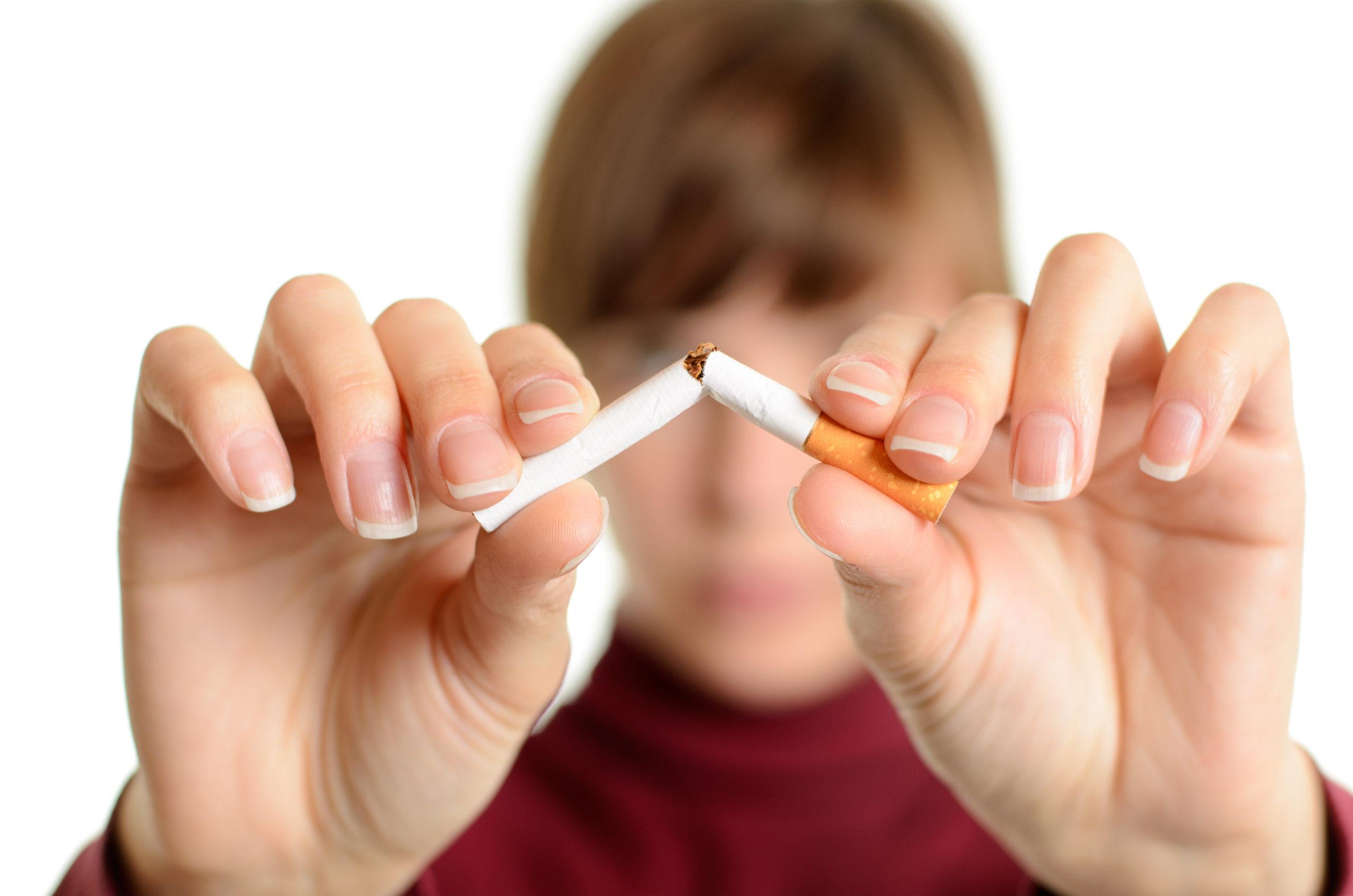 Aufhoren zu rauchen auf gbr haut